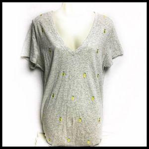 Merona gray pineapple tee shirt!  Size XL